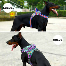 No Pull Reflective Adjustable Dog Harness With Handle Mesh Padded Vest Doberman