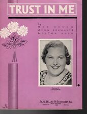 Trust In Me Sheet Music   1936  Kate Smith