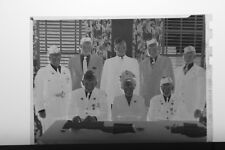 (2) B&W Press Photo Negative Veterans American Legion Banquet Flag Napkins T4233