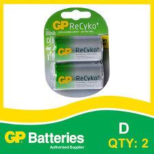 GP RECYKO + NIMH D carta della batteria di 2 batterie ricaricabili []