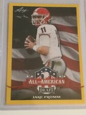 Jake Fromm 2020 Leaf Draft All-American Gold Rookie Card (#73)