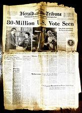 International Herald Tribune Nov. 8 1972 POLLS STILL POINT TO NIXON LANDSLIDE