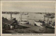 Buenos Aires Puerto Boca Ships c1910 Real Photo Postcard