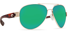 New Costa Del Mar Sunglasses SOUTH POINT Gold Green Mirror Glass 580G POLARIZED