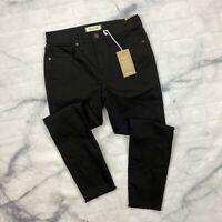"Madewell 9"" High Rise Skinny Crop Jeans Size 29 Womens Raw Hem K7976 Isko Black"