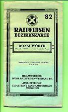 Donauwörth -- Landkarte -- Raiffeisen Bezirkskarte - 82 -- Maßstab 1: 80 000 -