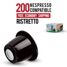 200 Nespresso compatible capsules RISTRETTO! STRONG - FREE SHIPPING $0.32/pod