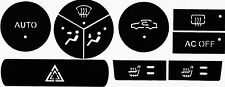 Saab 9-3 2007 facelift - 2012 cabrio climate control A/C heater buttons repair