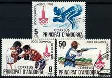 Andorra Spanish 1980 SG#126-8 Olympic Games Cto Used Set #D59345