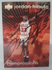 Michael Jordan 1997 Upper Deck Tribute Signed/Autographed Card w/COA HOF BULLS