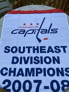 Washington Capitals Banner Southeast Division Champions 2007-08