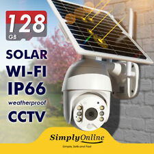 WiFi Solar Powered - Cable Free 24/7 Security PTZ camera + 128 GB SD CARD