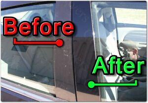 BLACK Pillar Posts for Volvo S80 07-17 6pc Set Door Cover Piano Window Trim