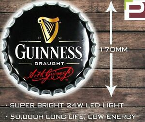 Guinness Beer Bottle Wall Light, WALL MOUNTED LIGHT for Garage, Man Cave, Bar