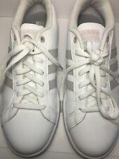 Adidas Superstar Women's US 8 Sneakers Shoe ~White/ Gray Snake Stripes Nwob