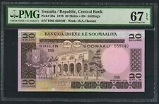 Somalia-Republic,Central Bank,P23a,1978, 20 Shillings,PMG 67EPQ