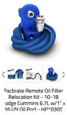 PACBRAKE REMOTE OIL FILTER RELOCATION KIT For 10-17 DODGE 6.7L CUMMINS; HP10305