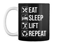 Funny Eat Sleep Lift Repeat Cool Gift Coffee Mug