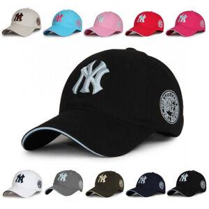 Classic New York Yankees Embroidered NY Baseball Cap Cotton Strapback Hat Unisex