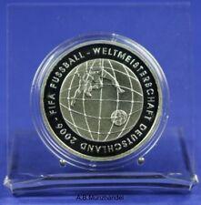 10 Euro Gedenkmünze Silber 2005 J  PP Fußball-WM 2006