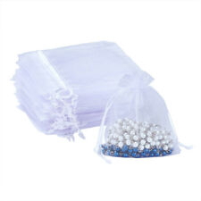 White Drawstring Organza Bag for Candy Jewelry Gift Packing Mini Pouch Bags