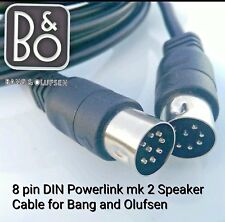 FULLY WIRED BeoLab 8 pin DIN Powerlink mk2 Speaker Cable for Bang Olufsen 4 Mts
