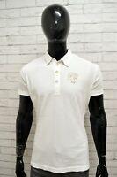 Polo Maglia Uomo DATCH Shirt Man White Manica Corta Cotone Bianco Taglia Size XL