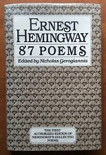 """88 Poems by Ernest Hemingway - First Edition - With RARE """"87 Poems"""" Dust Jacket"""