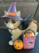 2007 Bradford Exchange Limited Edition Halloween Purrfect Holiday Cat Figurine