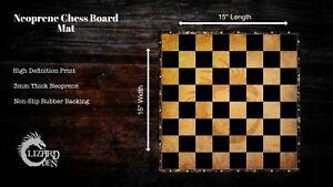 Neoprene Chess Board Mat 15''X15''