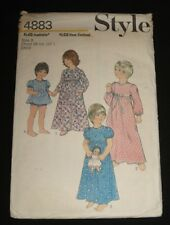 VINTAGE  STYLE PATTERN 4883 - CHILD'S DRESSING GOWN , NIGHTDRESS & PANTIES