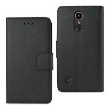 LG K20 V/K20 Plus Case Wallet Protective Stand Cover w/Card Holder Black