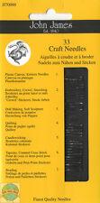 John James ~ 33 Craft Needle Assortment for Cross Stitch & More #JJ70000