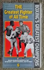 BOXING'S GREATEST CHAMPIONS (6) THE GREATEST FIGHTER OF ALL TIME (1990) VHS RARE