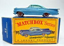 Matchbox RW 57b Chevrolet Impala ruedas grises azules la placa base raramente con Box