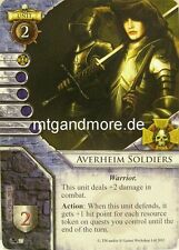 Warhammer Invasion - 2x Averheim Soldiers  #027 - Fragments of Power