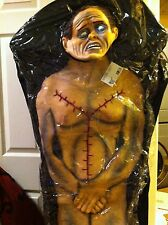 Lifesize 6 foot CORPSE DEAD BODY ZOMBIE Hanging BODY BAG MORGUE LAB PROP New