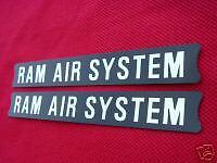 SUZUKI 68261-33101 RAM AIR SYSTEM CYLINDER DECAL EMBLEM GT380 GT550 INDY VINTAGE