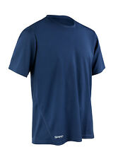 SPIRO Mens Quick Dry Short Sleeve T-shirt S253m XL Navy S253mnavyxl
