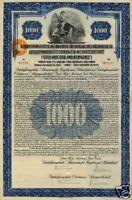 GHH Gutehoffnungshütte Oberhausen hist Gold USA $ bond Anleihe 1925  MAN Germany