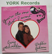"""CRAIG McLACHLAN & DEBBIE GIBSON - You're The One That I Want - Ex 7"""" Single Epic"""