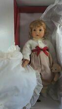 """23"""" Gotz Amelie Vinyl Doll w Teddy Bear Elisabeth Lindner Danbury Mint NIB"""
