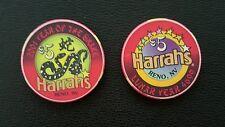 harrahs reno chinese new year of the snake $5 casino chip unc