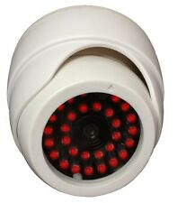 Indoor Dummy Fake Dome Security Surveillance white Camera - 30 Illuminating LEDs
