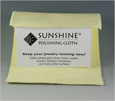 5 Pack Sunshine Polishing Cloths Polish&Shines Gold Silver Brass Copper Jewelry