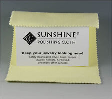 Sunshine Polishing Cloth polish/shines Gold Silver Brass Copper Jewelry