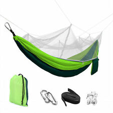 2 Persons Hanging Hammock Bed Travel Outdoor Camping Tent +Mosquito Net+Free Bag