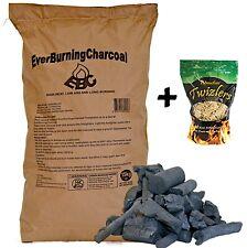 15kg Real Lumpwood Hardwood Restaurant Charcoal + Optional Wood Wool Firelighter