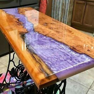 Special Pink River Epoxy Table, Light Pink Table, epoxy table dining table Tops