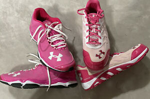 2 Pair Under Armour MLB Chicago Cubs Shoes Size 14 Authentic Mother's Day